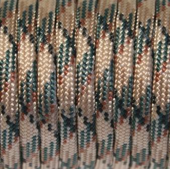 Паракорд 550 черно-зеленый камуфляж