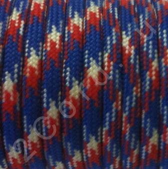 Паракорд 550 Красно-бело-синий